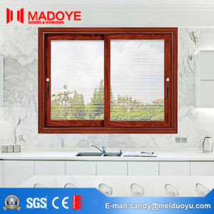Custom Made Slider Window with Blinds for Sale pictures & photos