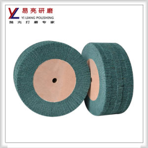 Satin Drawing Hairline Metal Polishing Abrasive Non Woven Flap Wheel pictures & photos