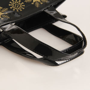 Xmas Style Waterproof PVC Zipper PU Shopping Bag (T003) pictures & photos
