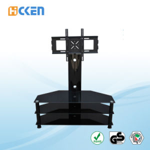 Glass and Metal MDF Corner LCD LED Modern TV Stand pictures & photos