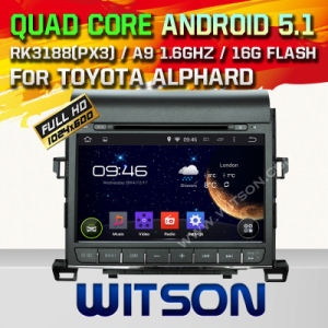 Witson Android 5.1 Car DVD for Toyota Alphard (2007-2013) (W2-A7008) pictures & photos