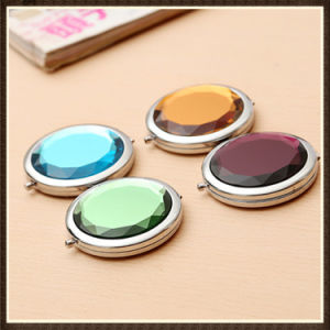 Promotional Advertising Gift -Customized Crystal Portable Cosmetic Pocket Mirror pictures & photos
