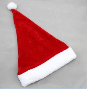 Plush Promotional Santa Hat, Green Hat, Christmas Hats pictures & photos