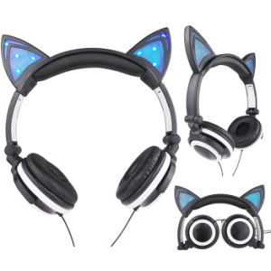 2016 New Products Hot Items LED Glowing Headphone with Cat Ear Disgn pictures & photos