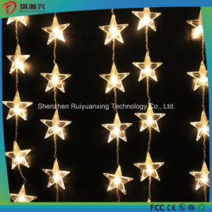 5m Hanging White Color LED String Light with Star Decoration pictures & photos