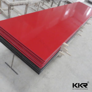 2017 Red Color 12mm Stone Resin Solid Surface for Sale pictures & photos