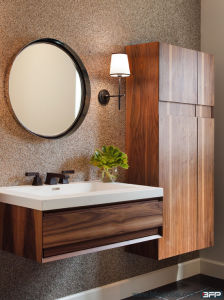 Modern Concise Vinyl Door Wall Hanging Vanity for Project pictures & photos