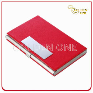 Fashion Leather Colorful Shiny Lady Name Card Case pictures & photos