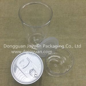 Custom Pet Transparent Plastic Container for Cookie with Easy Pen End pictures & photos