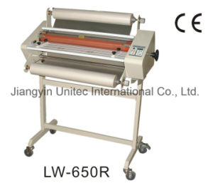 Good Quality Popular Design 650mm Width Roll Laminating Machine Laminator Lw-650r pictures & photos
