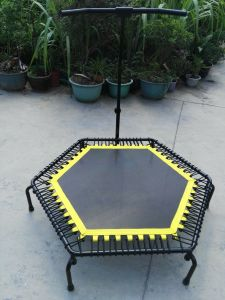 Professional Adults Fitness Trampoline with Adjustable Handle Bar pictures & photos