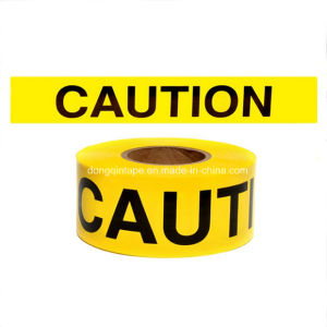 PE Plastic Tape for Area Demarcation Without Adhesive
