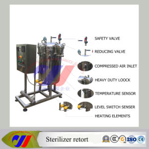 100L Vertical Type Cheap Meat Canned Autoclave Sterilizer Retort pictures & photos