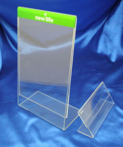 Customize Clear Acrylic Menu Holder Sign Holder pictures & photos