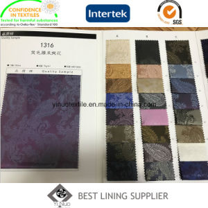 100 Polyester Men′s Suit Paisley Jacquard Lining Fabric Ready Stock Supplier pictures & photos