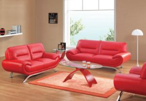Red Leather Accent Chair Simple Design Sofa for Hotel Bedroom (L061) pictures & photos