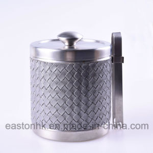 Hotel Quality Stainless Steel Ice Bucket with Concealed Tong pictures & photos