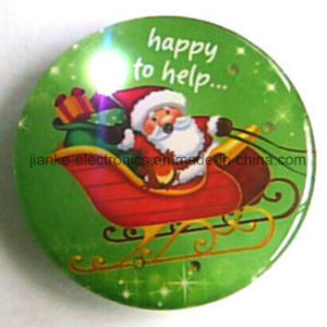 2017 Merry Christmas LED Light Blinking Pins with Logo Printed (3161) pictures & photos