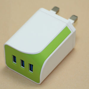 Colorful Phone Charger 3 USB Port 5V 3.4A DC Charger/Power Plug for Wholesale pictures & photos