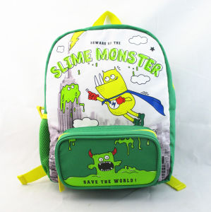 Monster Print Polyester Back to School Kid′s Backpack pictures & photos