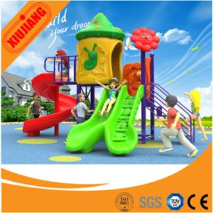 Customized Colorful Outdoor Playground with Rotational Slide and Straight Slide pictures & photos