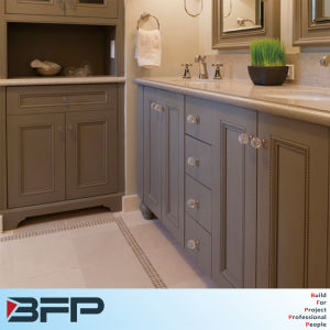 European Grey Shaker Door with Round Crystal Handle Bathroom Vanity pictures & photos