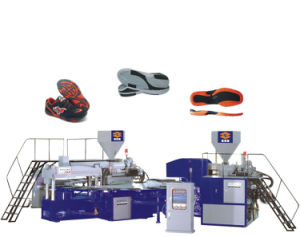 2 Color PVC Sole Making Machine with Cheap Price pictures & photos