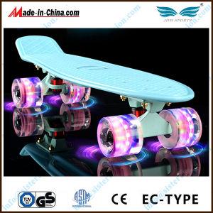 LED Plastic Skateboard with LED Wheel