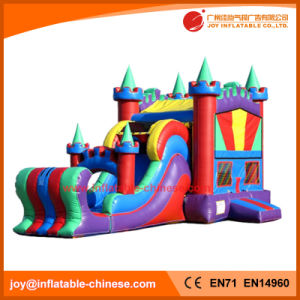 Inflatable Princess Bouncy Jumping Castle with Wave Slide Combo (T3-520) pictures & photos