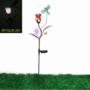 Fantastic Mosaic Flower Metal Decoration Dragonfly Garden Stake Craft pictures & photos