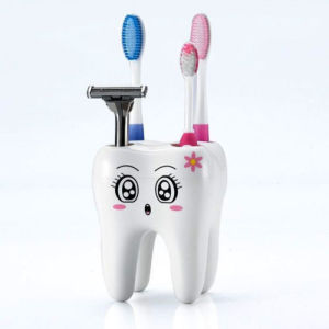 Teeth Style Toothbrush Holder 4 Hole Cartoon Toothbrush Stand Tooth Brush Shelf pictures & photos