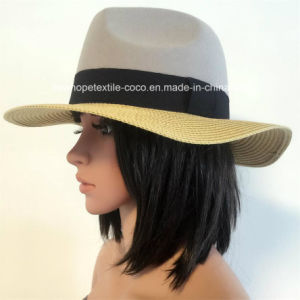 50% Paper Straw Hat 50% Polyester, Fashion Contrast Col Style for Unisex pictures & photos