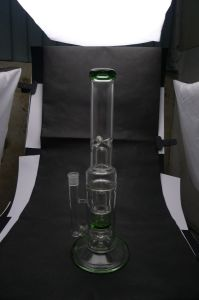 D&K Straight Tube with Ball Perc Windmill Perc Dry Herb Bowl Ice Pipe Glass Water Pipe