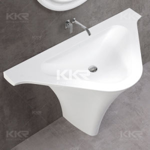 Kingkonree Artificial Stone Modern White Basin for Hotel pictures & photos