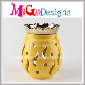 Newest Hand-Printing Ceramic Essential Oil Burner pictures & photos