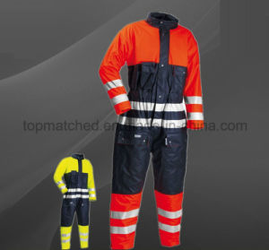 High Visibility OEM Men′s Waterproof Working Safety Overall pictures & photos