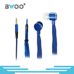 High Quality Remote Control Shoelace Metal in-Ear Bass Earphone pictures & photos