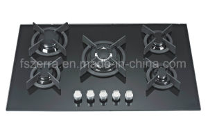 Hot Selling Tempered Glass Gas Hob Jzg95004 pictures & photos