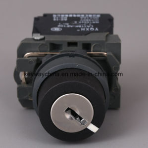 Keyway 22mm Push Button Switch with Key pictures & photos