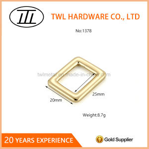Gold Metal Rectangle Ring Zinc Alloy Square Ring Buckle for Bag pictures & photos