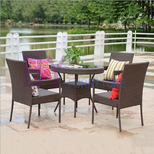 Complete Sets of PE Rattan Garden Balcony Tables and Chairs Furniture Combination pictures & photos