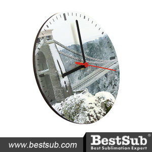 20cm Round Hardboard Clock (HBZ03) pictures & photos