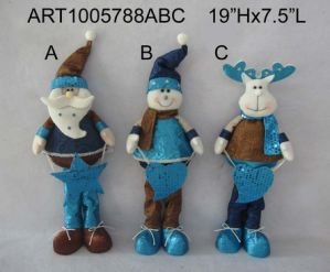 Standing Santa Snowman and Moose Christmas Decoration 3 Asst pictures & photos