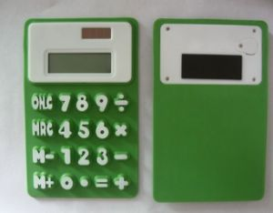 8 Digit Solar Powered Pocket Silicone Calculator, Silicone Foldable Calculator pictures & photos