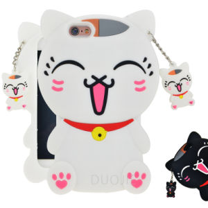 New Style Cartoon Cat Silicone Phone Case for Oppo A33 A37 A59 F1s Mobile Phone Cover (G132)