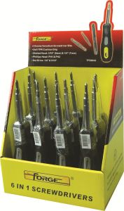 Hand Tools 12PCS 6 in 1 Cr-V Steel Screwdriver with Soft TPR Grip pictures & photos
