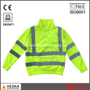Yellow Knitted Hi Vis Sweater Long Sleeve Safety Shirt pictures & photos