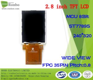 2.8 Inch 240X320 MCU 8bit, IC: St7789, TFT LCD Panel Option Touch Screen pictures & photos