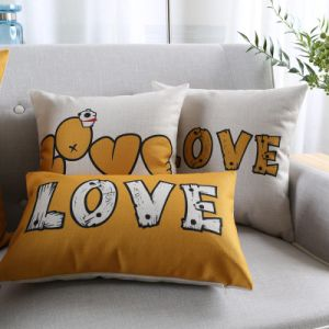 Discount Cotton Linen Decorative Throw Pillow Covers for Chair pictures & photos