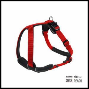 Custom Soft Comfy Reflective Safety Nylon Padded Pet Dog Harness pictures & photos
